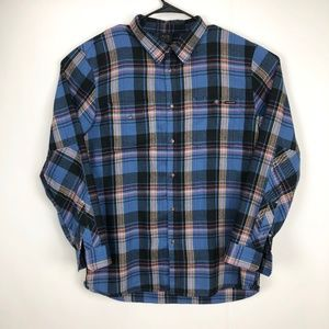 Oakley Men's Flannel Shirt Plaid Blue XXL TTG